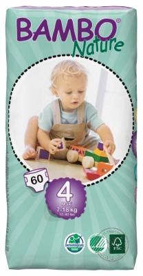 Bambo Детские Эко-подгузники Maxi (7-18 кг.), 60 шт.
