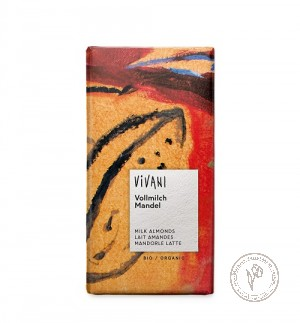 Vivani Молочный шоколад с цельным миндалем, 100 гр.