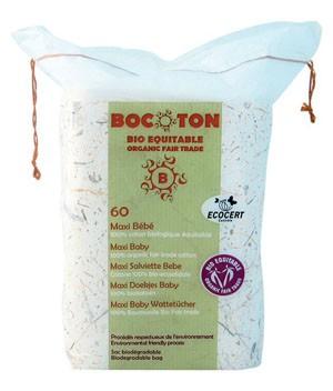 Bocoton Ватные диски прямоугольные «Maxi Baby», 60 шт.