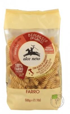 Alce Nero Макароны Fusilli из цельнозерновой пшеницы Полбы (cпельты), 500 гр.