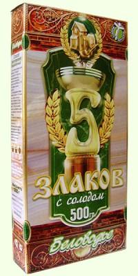 Беловодье Крупка *5 злаков* с солодом, 500 гр.