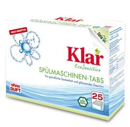 Klar Таблетки для мытья посуды для посудомоечных машин гипоаллергенные (25 шт), 500 гр.