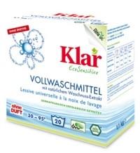 Klar Стиральный порошок на мыльном орехе для белого и прочноокрашенного белья гипоаллергенный, 1,1 кг.