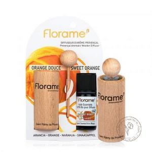Florame Диффузор провансальский + Эфирное масло *Апельсин сладкий*,  10 мл.