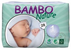 Bambo Детские Эко-подгузники для новорожденных (2-4 кг.), 28 шт.
