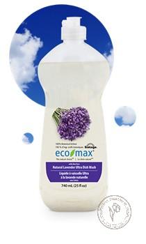 "Eco-Max Натуральное средство для мытья посуды ""Лаванда"", 740 мл."