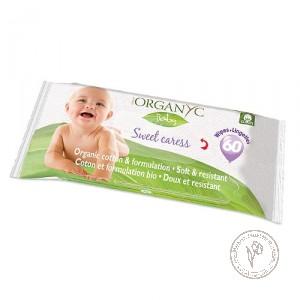 Organyc Детские влажные салфетки из органического хлопка, 60 шт.