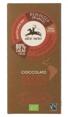 Alce Nero Горький шоколад с дроблеными зернами какао, 100гр.