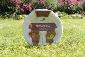 Picneco Тарелка 3х секционная из сахарного тросника, 10 шт.