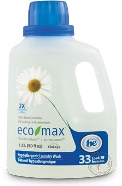 Eco-Max Гипоаллергенное жидкое средство для стирки, 1,5 л.