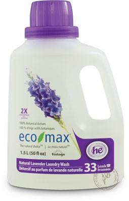 Eco-Max Натуральное жидкое средство для стирки «Лаванда», 1,5 л.
