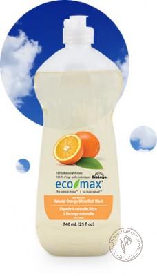 """Eco-Max Натуральное средство для мытья посуды """"Апельсин"""", 740 мл."""