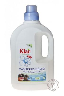 Klar Жидкое средство на мыльном орехе для стирки цветного и белого белья, 1,5 л.