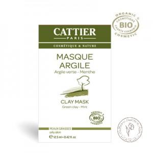 Cattier Маска для жирной кожи на основе зеленой глины, 12,5 мл.
