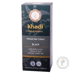 Khadi Растительная краска для волос «Черный», 100 гр.