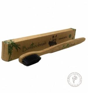 Bamboobrush Зубная щетка из бамбука с угольным напылением (средняя жесткость)