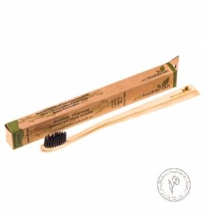 Ecotoothbrush Зубная щетка из бамбука с угольным напылением (средняя жесткость)