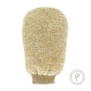 Forster's Массажная мочалка-варежка двухсторонняя из органического льна и бамбука