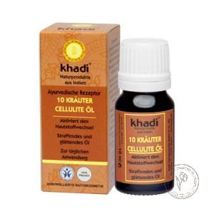 Khadi Антицеллюлитное масло для тела «10 растений», 10 мл.
