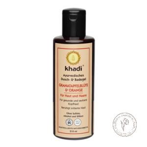 Khadi Шампунь-гель для душа и ванны «Цветки граната - Апельсин», 210 мл.