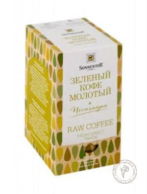 Sonnentor Зеленый кофе молотый (Арабика), 18 двойных пакетиков по 3 гр.