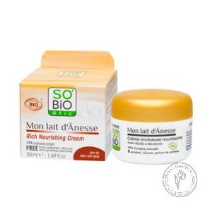 SO'BiO etic Интенсивный питательный крем с ослиным молоком, 50 мл