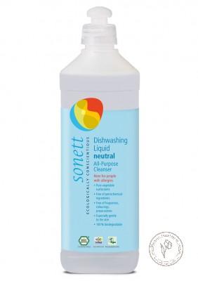 Sonett Средство для мытья посуды (универсальное чистящее средство) Sensitive для чувствительной кожи, 500 мл.