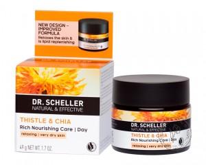 Dr.Scheller Особо питательный дневной крем «Сафлор и Чиа», 50 мл.