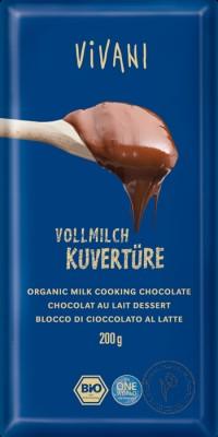 Vivani Молочный кувертюр (глазурь из молочного шоколада 35%), 200 гр.