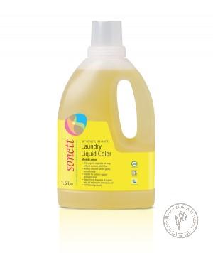 Sonett Жидкое средство для стирки цветных тканей Мята и лимон, 1,5 л.