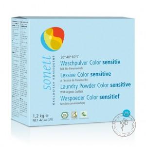 Sonett Стиральный порошок для цветного белья Sensitive для чувствительной кожи, 1.2 кг.