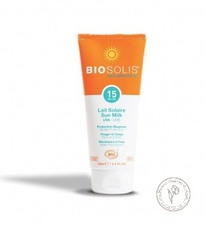 BioSolis Солнцезащитное молочко для лица и тела SPF15, 100 мл.