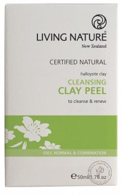 Living Nature Очищающий пилинг с глиной, 10 упаковок по 5 мл.