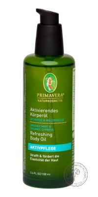Primavera Активирующее масло для тела «Мята Кипарис», 100 мл.