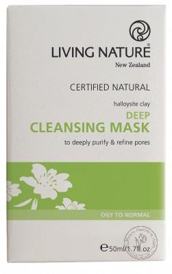 Living Nature Глубоко очищающая маска, 10 упаковок по 5 мл.