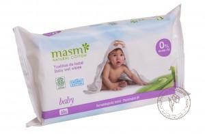 Masmi Органические влажные гигиенические салфетки для детей, 60 шт.