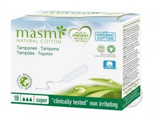 Masmi Гигиенические тампоны Super из органического хлопка, 18 шт.