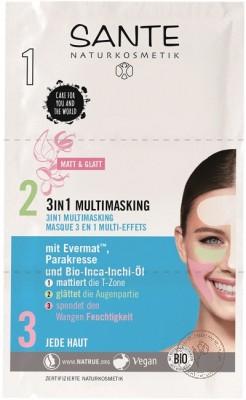 Sante Зональная маска для лица 3 в 1, 9 мл.