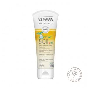 Lavera Солнцезащитный крем SPF 50 для детей, 75 мл.