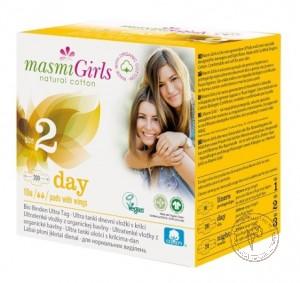 Masmi Ультратонкие дневные прокладки с крылышками Masmi Girls в индивидуальной упаковке, 10 шт.