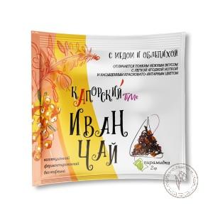 Капорский Иван-чай С Медом и Облепихой (пирамидка в саше), 2 гр.