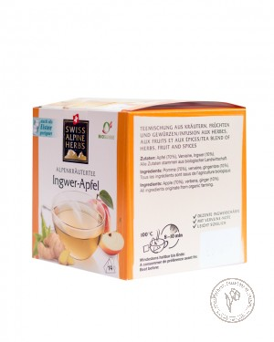 Swiss Alpine Herbs Чайный напиток *Имбирно-яблочный*, 28 гр.