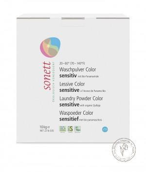 Sonett Стиральный порошок для цветного белья Sensitive для чувствительной кожи, 10 кг.