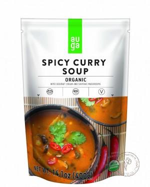 Auga Органический острый карри-суп, 400 гр.