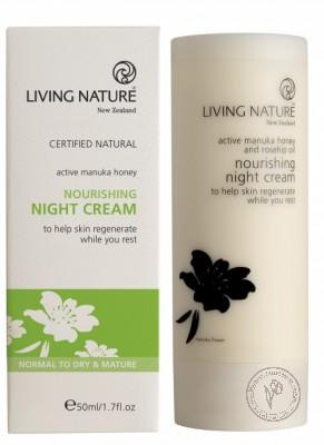 Living Nature Питательный ночной крем, 50 мл.