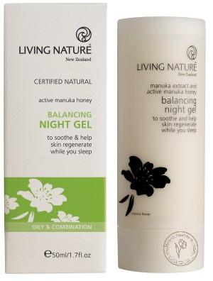 Living Nature Сбалансированный ночной гель, 50 мл.