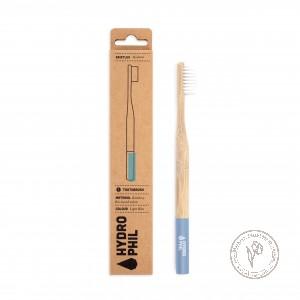 Hydrophil Натуральная зубная щетка из бамбука средней жесткости (голубая)