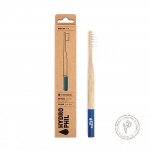 Hydrophil Натуральная зубная щетка из бамбука мягкая (синяя)