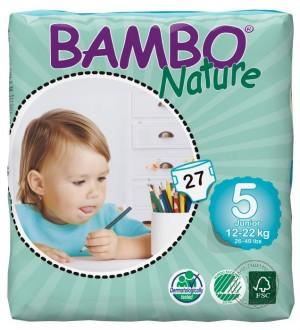 Bambo Детские Эко-подгузники Junior (12-22 кг.), 27 шт.