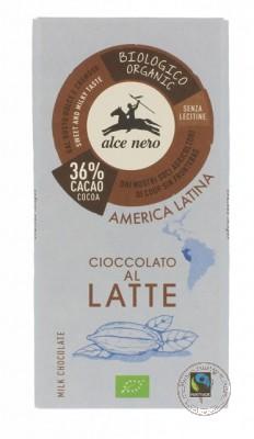Alce Nero Молочный шоколад, 100гр.